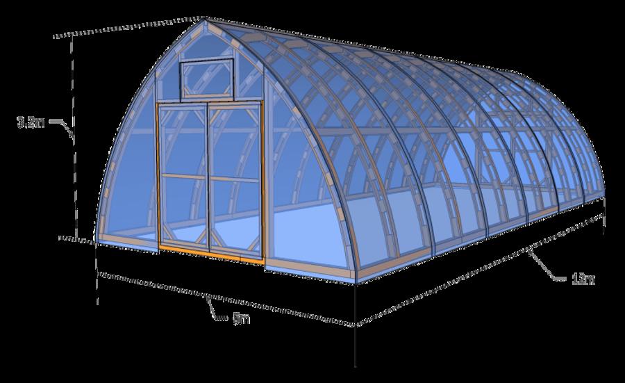 Wood Greenhouse RH500